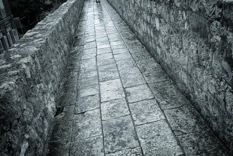 De muur Dubrovnik van de stad royalty-vrije stock foto's