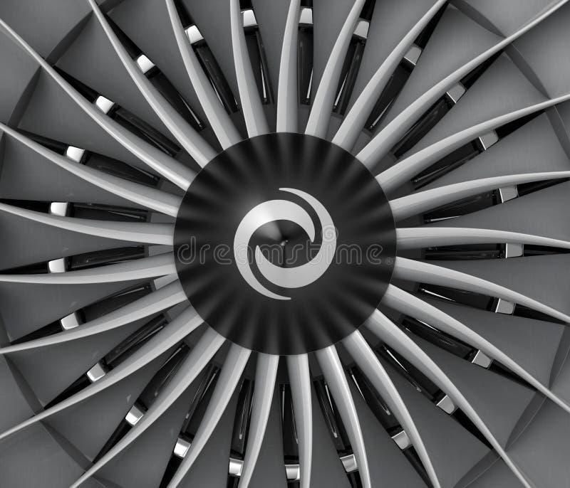 Close-up van de straal turbobladen van de ventilatormotor vector illustratie