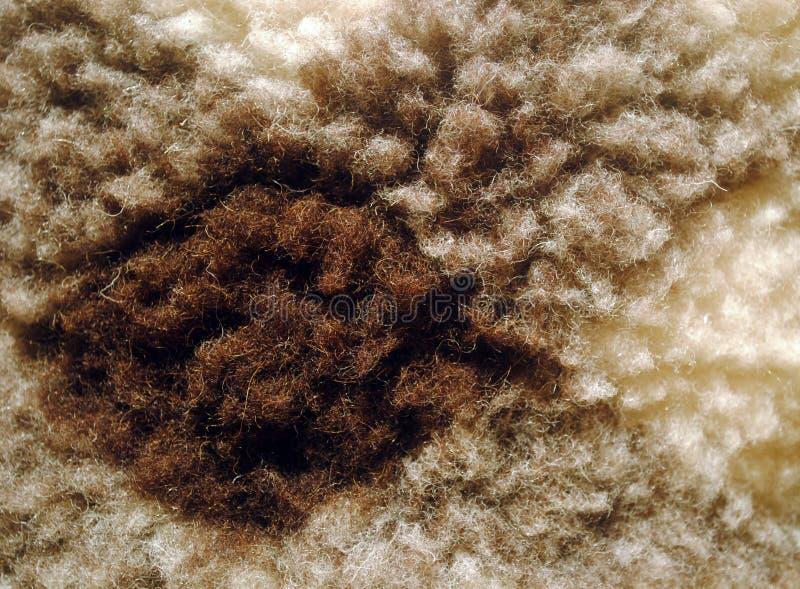 Close-up van de wol het vierkante textuur stock foto's