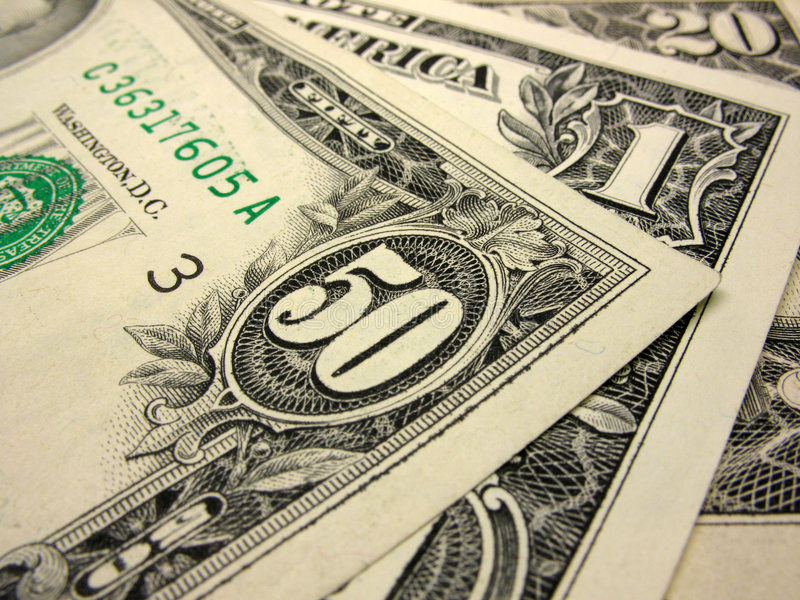 Close-up van dollars stock foto