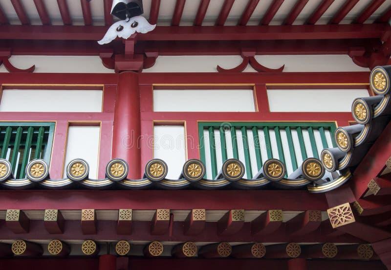 Close-up van eaves op de traditionele Chinese tempel royalty-vrije stock fotografie