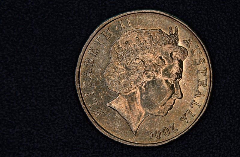 Close-up van een Australisch 1 dollarmuntstuk stock fotografie