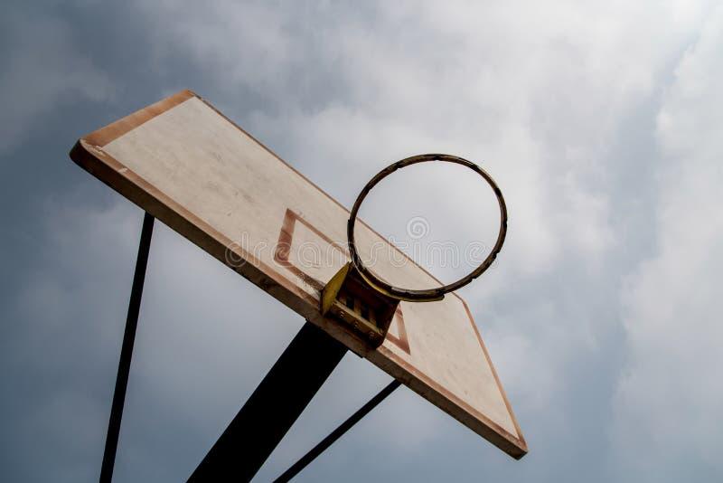 Close-up van een basketbalhoepel stock fotografie