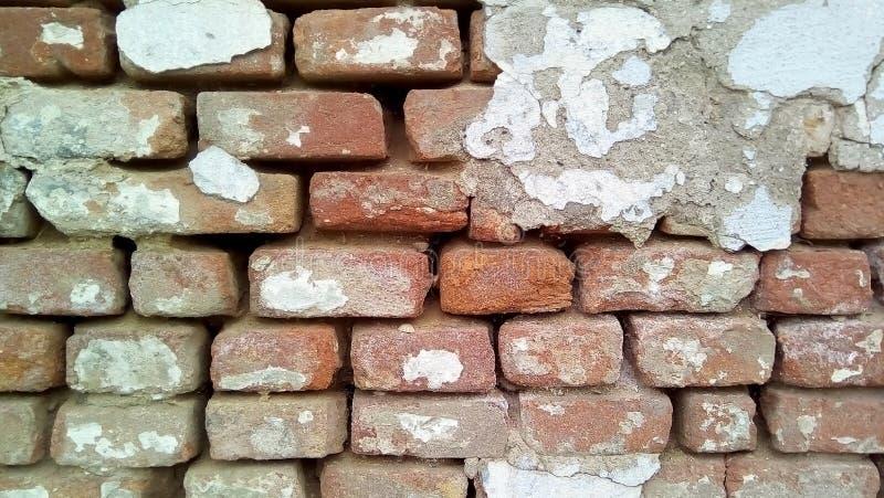 Close-up van een deel van een bakstenen muur stock afbeeldingen