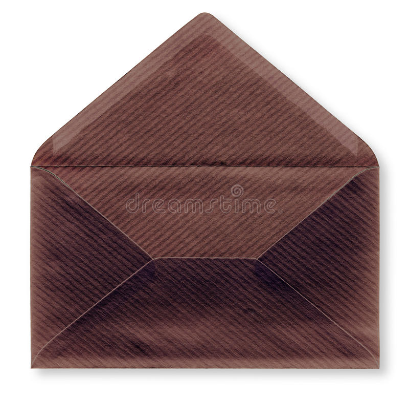 Close-up van een envelop. stock foto