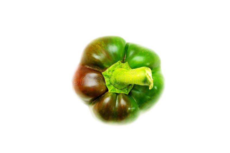 Close-up van een geïsoleerde groene paprika royalty-vrije stock foto