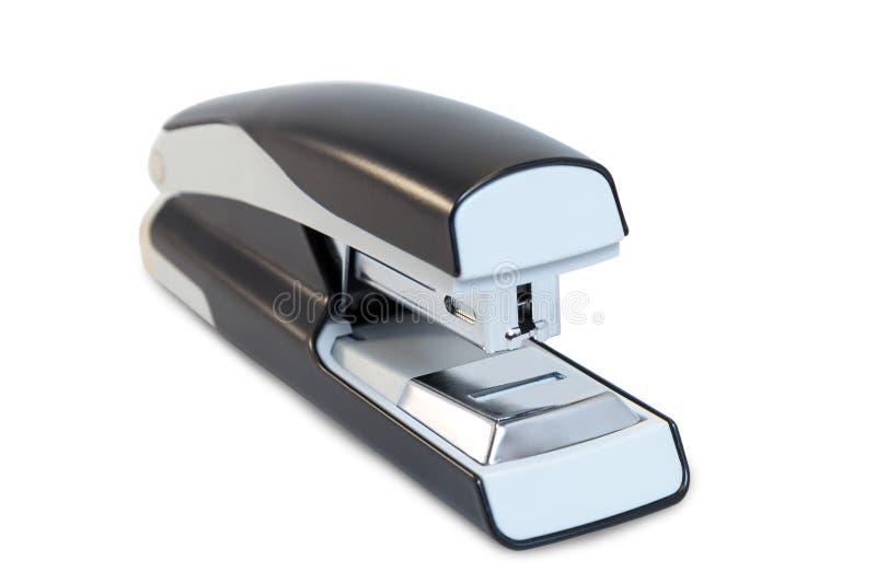 Close-up van een grijze bureaunietmachine stock foto