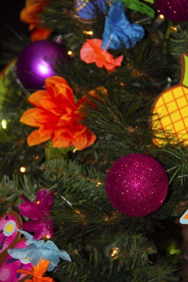 Close-up van een Kerstboomdocorations royalty-vrije stock afbeelding