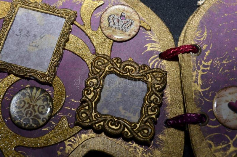 Close-up van een klein vierkant fotokader stock afbeelding