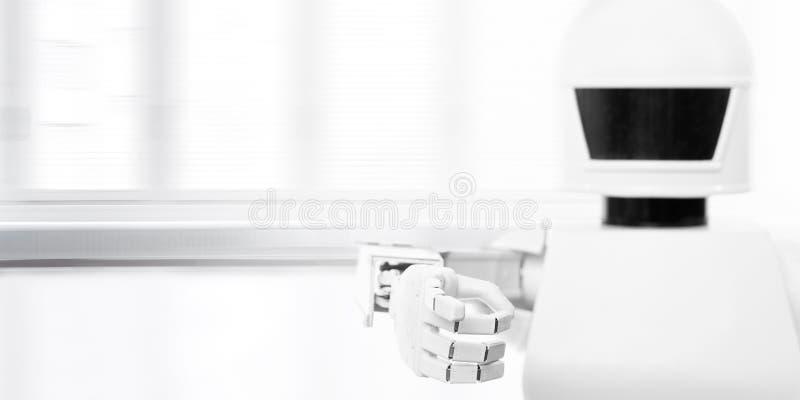 Close-up van een leuke autonome de dienstrobot royalty-vrije stock fotografie
