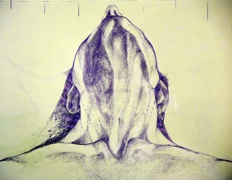 Close-up van een mens in extasy vector illustratie