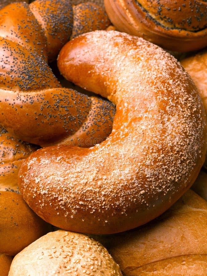 Close-up van een mooi stilleven van brood, banketbakkerswerkenwi royalty-vrije stock foto
