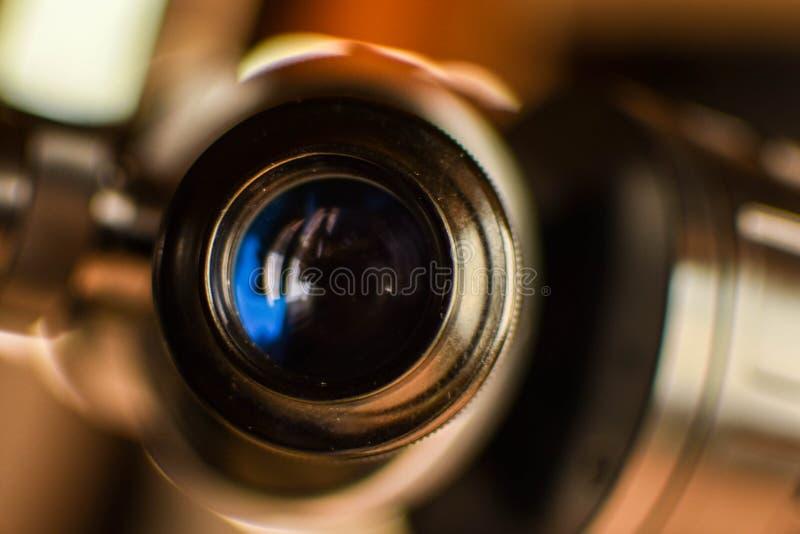Close-up van een ooglens van een telescoop royalty-vrije stock foto