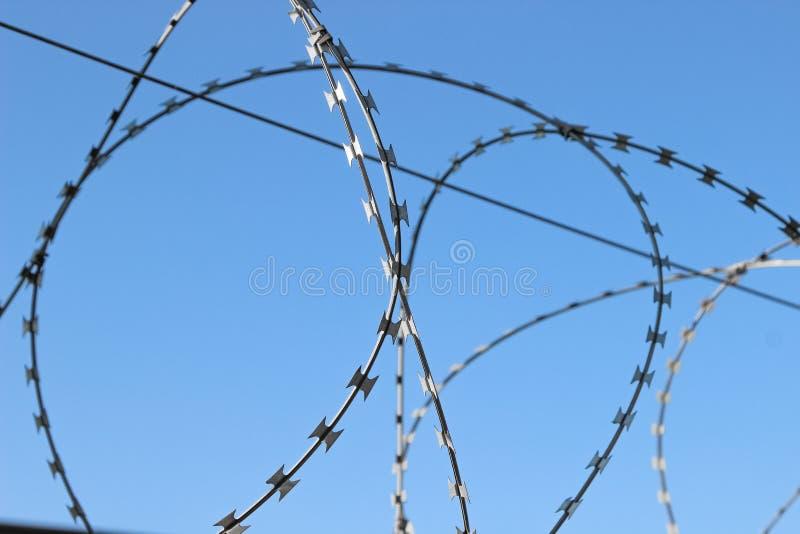 Close-up van een scheermesdraad royalty-vrije stock foto
