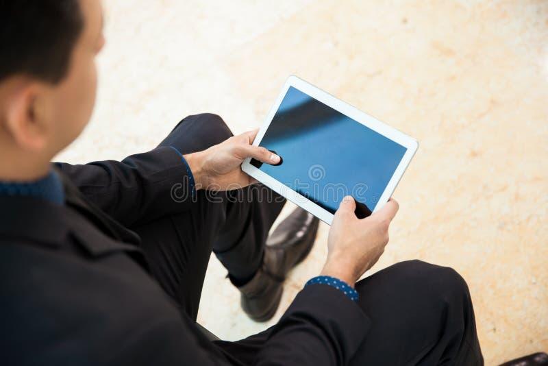 Close-up van een tabletcomputer royalty-vrije stock fotografie