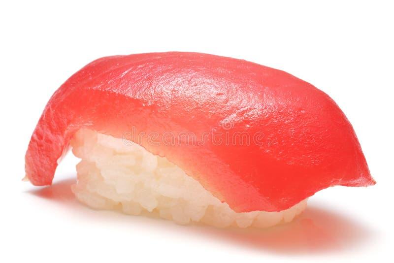 Close-up van een tonijnsushi royalty-vrije stock afbeelding
