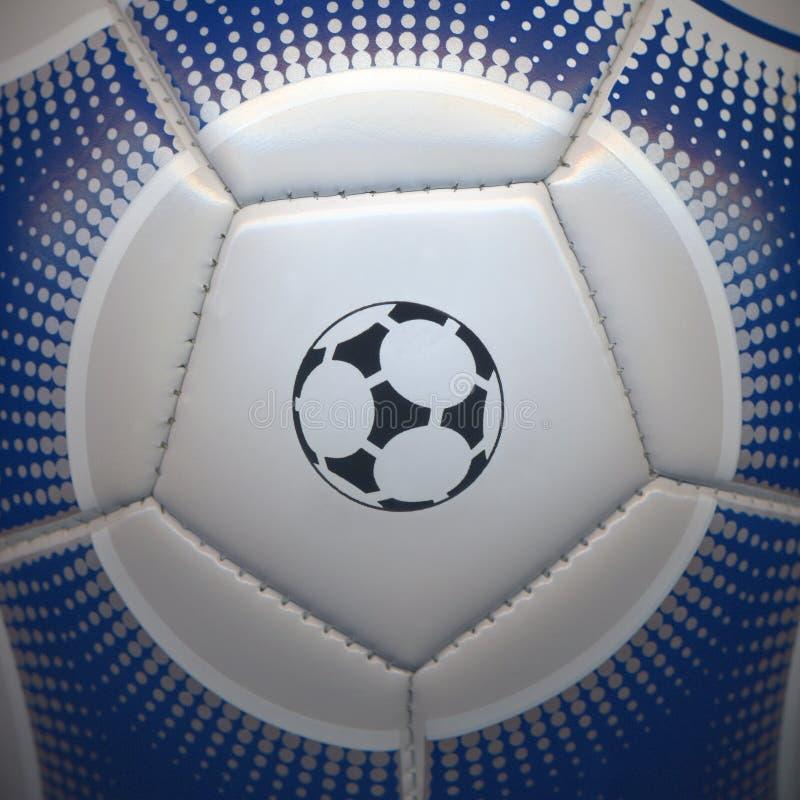 Close-up van een voetbalbal royalty-vrije stock fotografie
