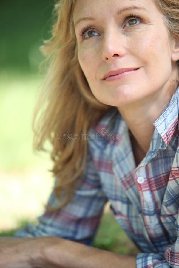 Close-up van een vrouw royalty-vrije stock afbeelding