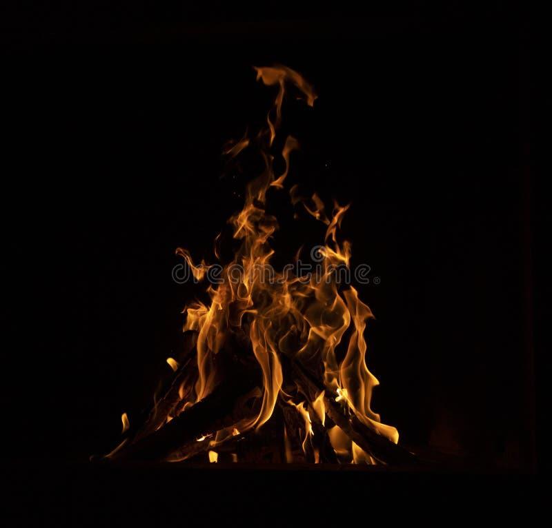 Close-up van een vuur stock afbeeldingen