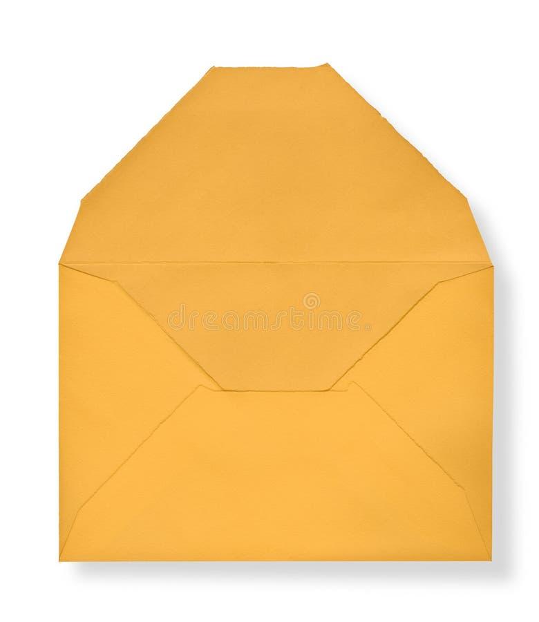 Close-up van gele enveloppen. royalty-vrije stock foto's
