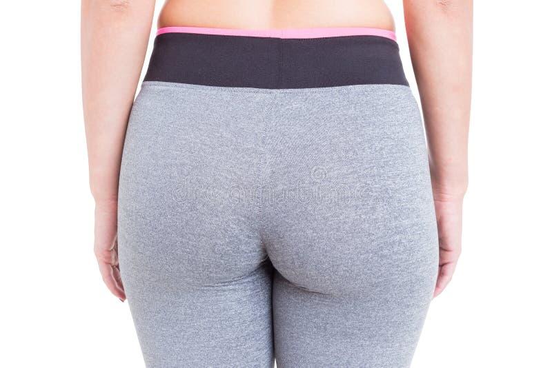 Close-up van geschikte sexy buit die sportlegging dragen stock afbeelding