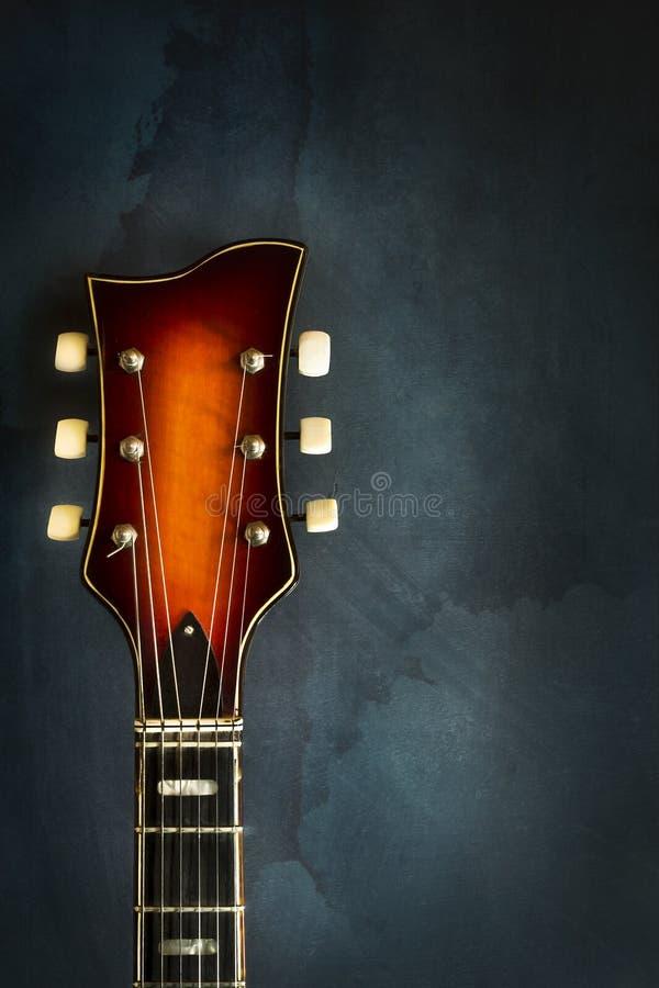 Close-up van gitaar van de asblok de oude elektrische jazz royalty-vrije stock fotografie