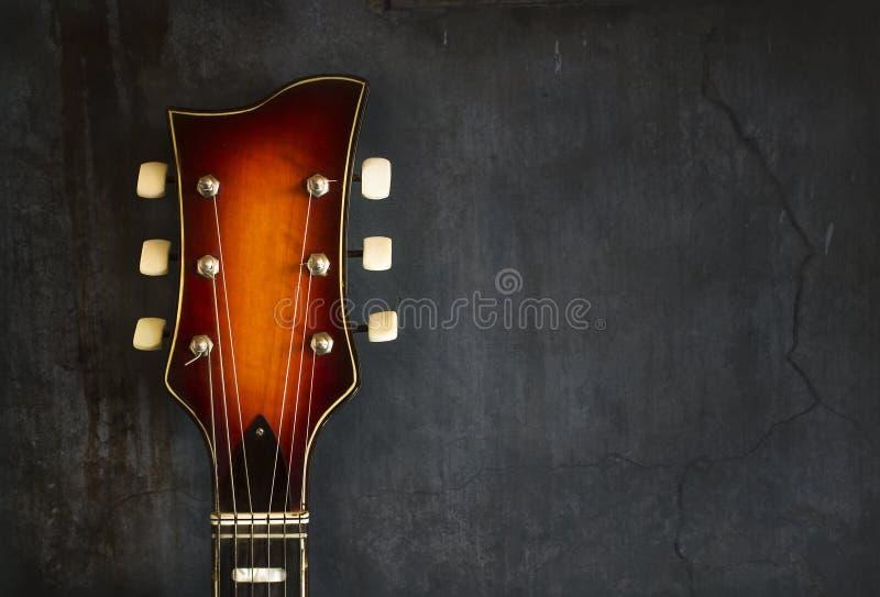 Close-up van gitaar van de asblok de oude elektrische jazz royalty-vrije stock foto's