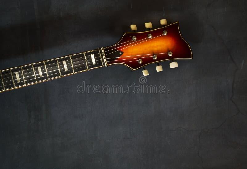 Close-up van gitaar van de asblok de oude elektrische jazz royalty-vrije stock foto