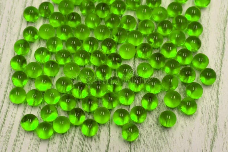 Close-up van glas marmeren ballen stock foto's