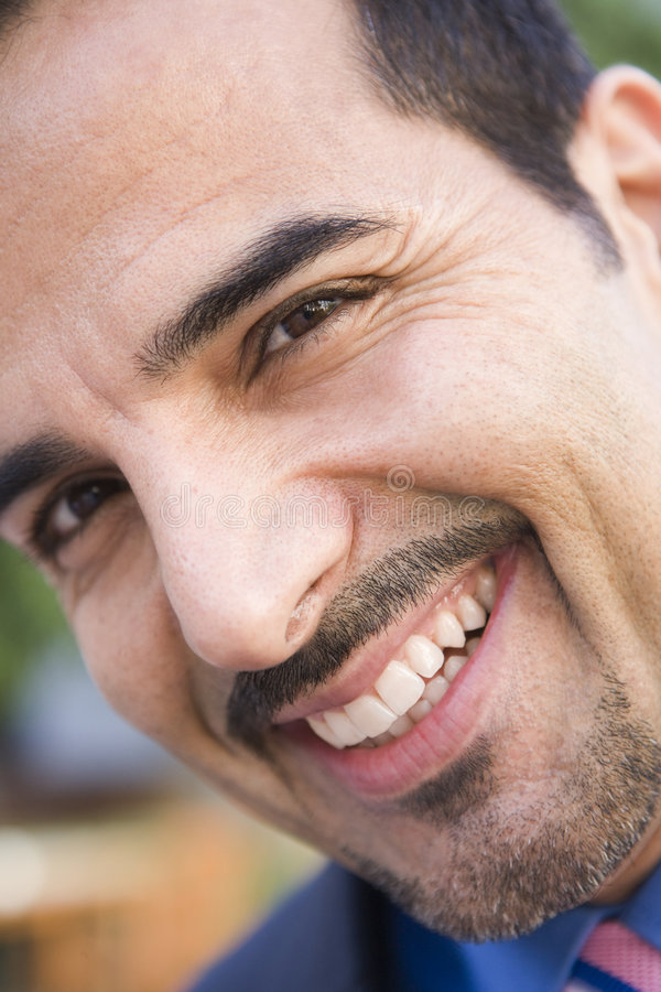 Close-up van glimlachende zakenman royalty-vrije stock foto