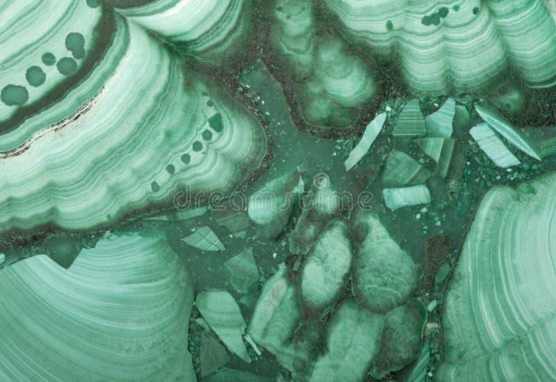 Close-up van groene malachiettextuur stock afbeeldingen