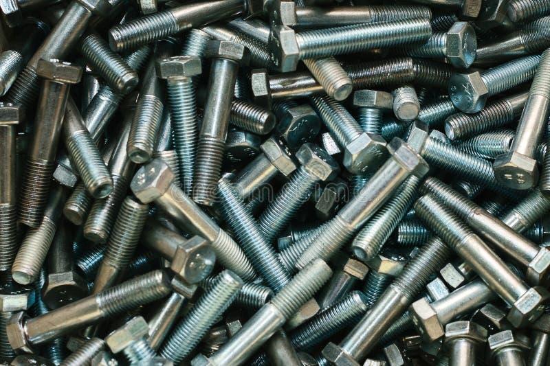 Close-up van heel wat bouten voor het bevestigen stock afbeelding