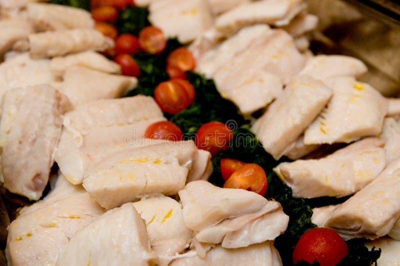 Close-up van heerlijk voedsel wordt geschoten dat stock afbeeldingen
