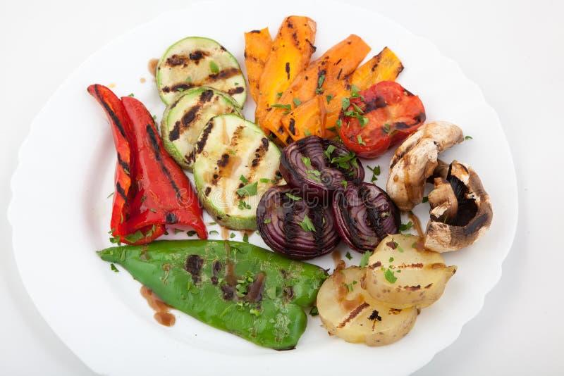 Close-up van heerlijke geroosterde groenten royalty-vrije stock fotografie