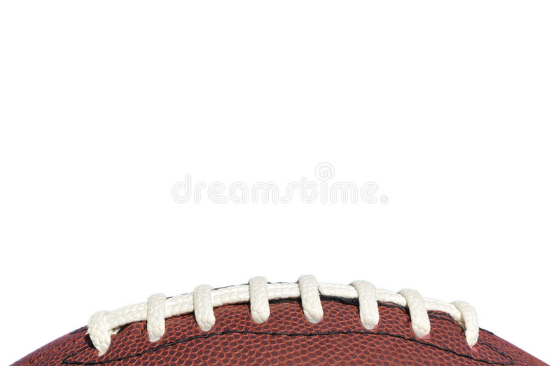 Close-up van het Amerikaanse Kant van de Voetbal stock afbeelding