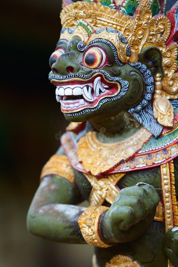Close-up van het Balinese standbeeld van de God stock afbeeldingen