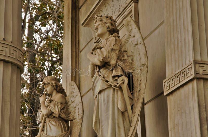 Close-up van het bidden van engelen royalty-vrije stock afbeeldingen