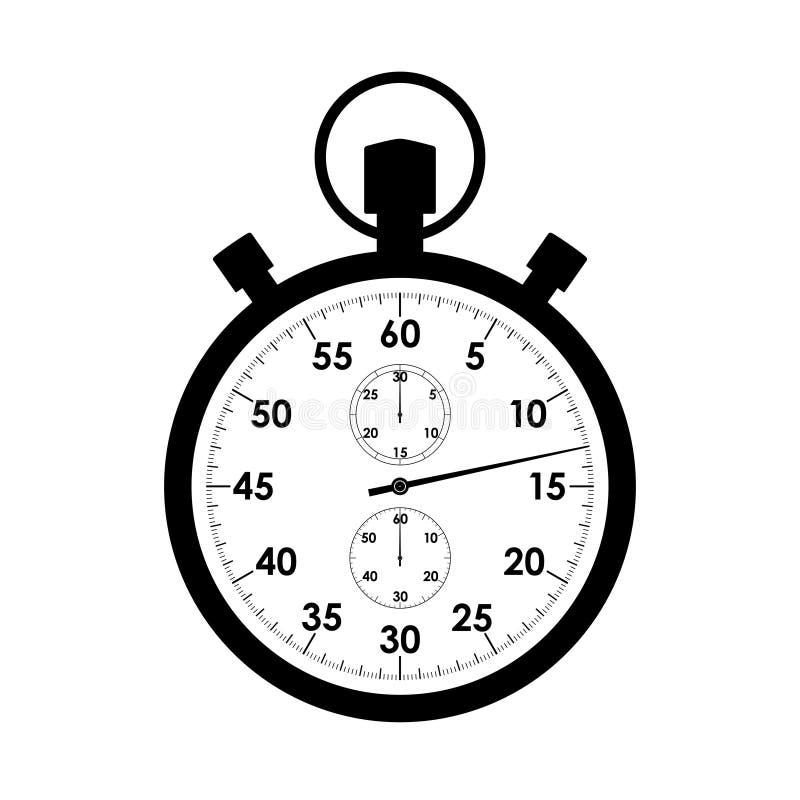 Close-up van het chronometer de grafische pictogram royalty-vrije illustratie