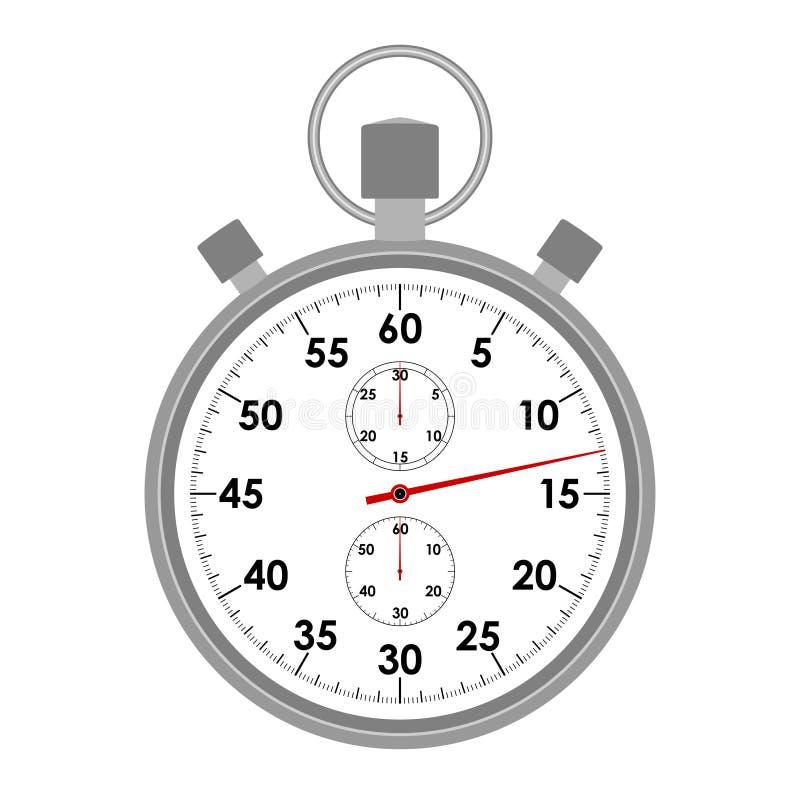 Close-up van het chronometer de grafische pictogram stock illustratie