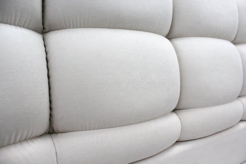 Close-up van het hoofdeinde Zachte panelen Ruige zachte meubels stock foto
