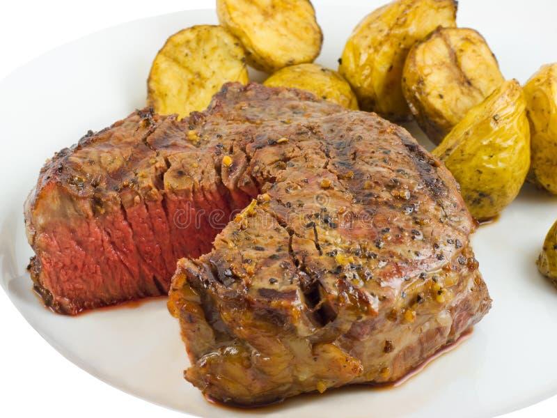 Close-up van het Lapje vlees van het Haasbiefstuk