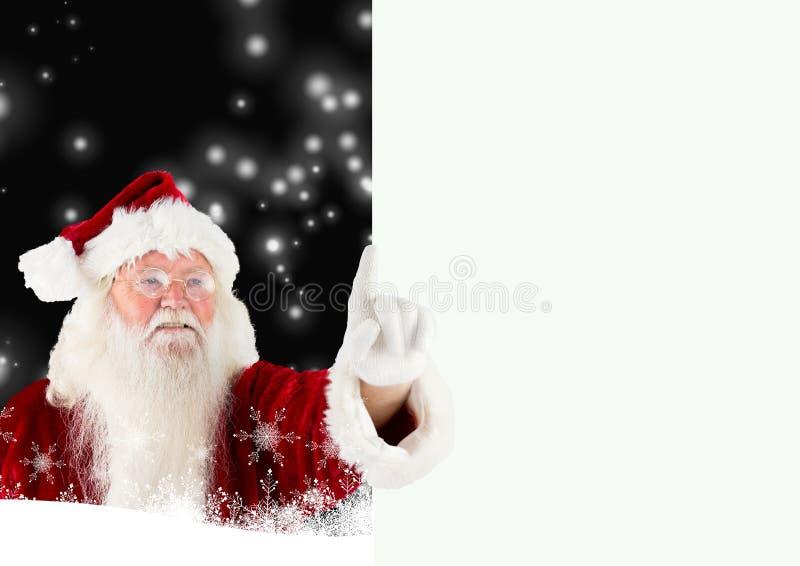 Close-up van het richten van de Kerstman stock afbeelding
