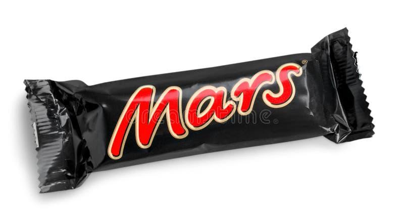Close-up van het suikergoedchocoladereep van Mars door Mars wordt gemaakt die royalty-vrije stock foto's