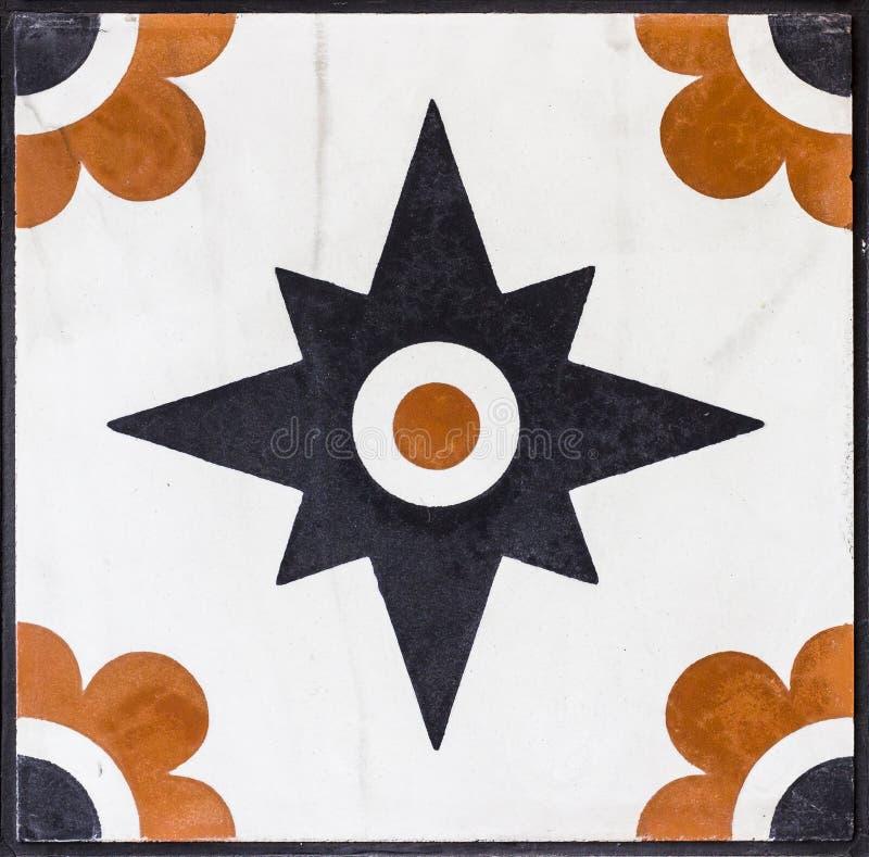 Close-up van het traditionele oranje en zwarte marmer dat van het ottomanepatroon wordt geschoten royalty-vrije stock foto