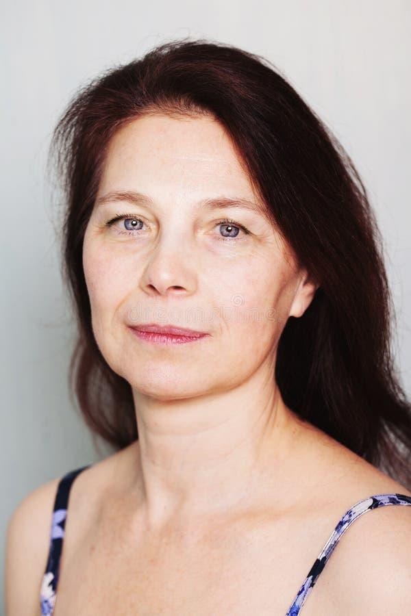 Close-up van hogere vrouw royalty-vrije stock fotografie