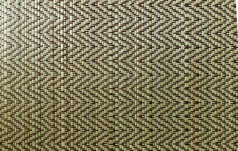 Close-up van Houten Bamboe Mat Texture stock fotografie