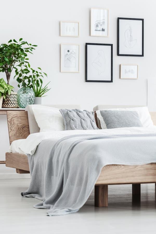 Close-up van houten bed stock foto