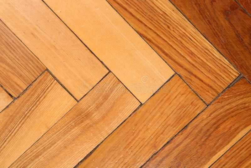Close-up van houten parketvloer. stock foto