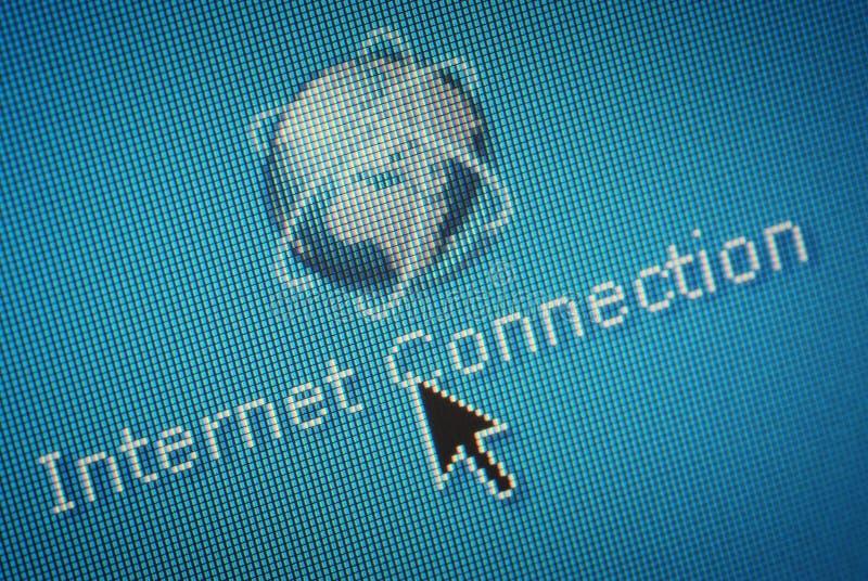 Close-up van Internet aansluting stock foto's