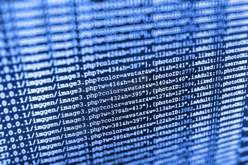 Close-up van Java Script, CSS en HTML royalty-vrije stock foto